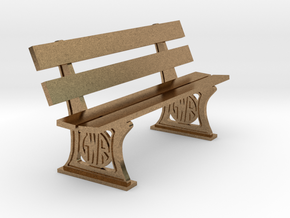 GWR Bench later style 4mm in Natural Brass