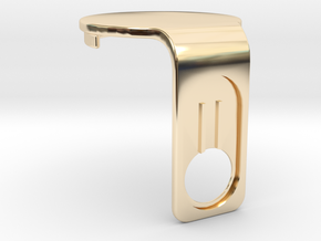Canary 1 Privacy Cover Main Body in 14k Gold Plated Brass