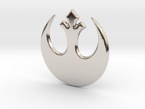 Rebel Alliance in Rhodium Plated Brass