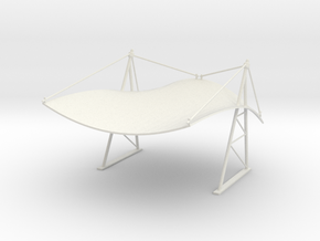 Manta Tent / Roof - Scale 1/43 in White Strong & Flexible