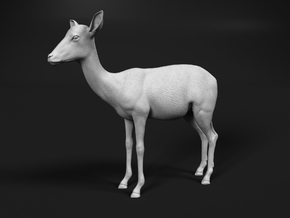 Impala 1:25 Standing Female in White Natural Versatile Plastic