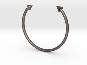 Arrow Cuff - XS in Polished Bronzed Silver Steel