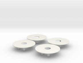 Salvas Mudboss RC Oval Wheel Dots Traxxas Slash in White Natural Versatile Plastic