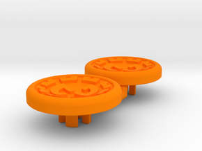 Dwemer spinner caps - Magnetic, Standard in Orange Processed Versatile Plastic