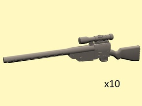 28mm Wastefall sniper rifle in Smoothest Fine Detail Plastic