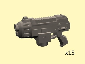 SciFi Scorching pistols x15 in Frosted Extreme Detail