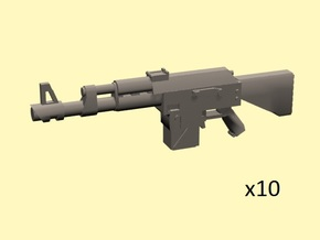 28mm SciFi LK-47 laser rifles (10) in Frosted Extreme Detail