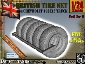 1-24 Chevy LRDG Tire Set1 in Black Natural Versatile Plastic