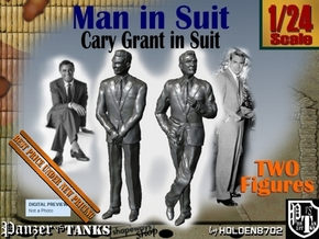1-24 Cary Grant In Suit Two Figures in White Natural Versatile Plastic