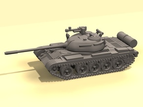 1/160 scale T-55 tank in White Strong & Flexible