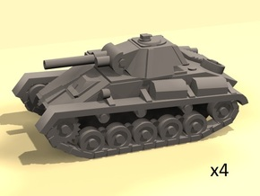 1/160 Soviet T-70 light tank (4) in Smooth Fine Detail Plastic