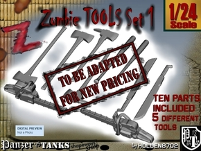1-24 Zombie Tools Set 1 in Transparent Acrylic