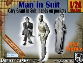 1-24 Cary Grant In Suit Hands Pockets in White Natural Versatile Plastic