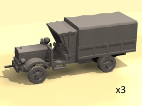 1/160 WW1 Light Trucks 3 in Smooth Fine Detail Plastic