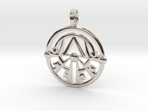 SACRED EMBER in Rhodium Plated Brass