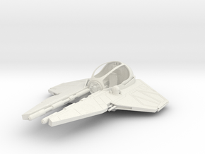 1/72 Eta-2 Actis-class Jedi Interceptor Dock Md. in White Natural Versatile Plastic