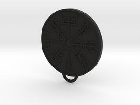 Vegvisir pendant in Black Natural Versatile Plastic