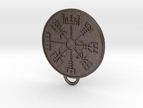 Vegvisir pendant in Polished Bronzed Silver Steel