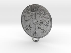 Vegvisir pendant in Natural Silver
