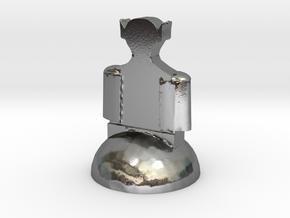Star Trek Bishop (3) in Polished Silver