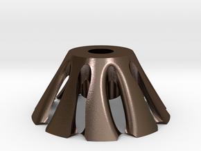 蘑菇花苞.stl in Polished Bronze Steel: Large
