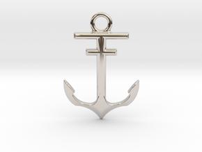 Anchor Pendant in Platinum
