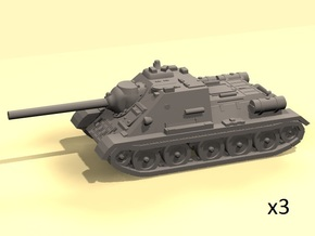 1/220 SU-85 Samokhodka in Smooth Fine Detail Plastic