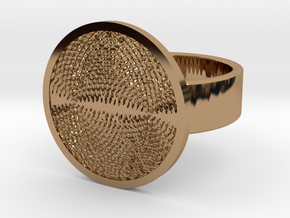 Ripples Ring in Polished Brass: 10 / 61.5