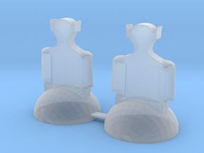 Star Trek Bishops in Smooth Fine Detail Plastic