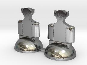 Star Trek Bishops in Polished Silver