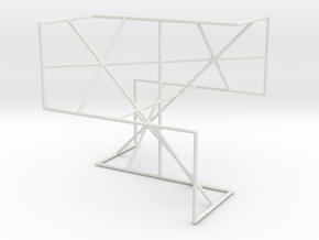 """D"" Surface Saddle Frame in White Natural Versatile Plastic"