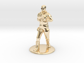 SG Male Soldier Walking 35mm new in 14k Gold Plated Brass