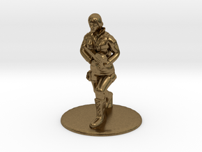 SG Female Soldier Running 35 mm new in Natural Bronze