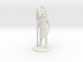Jackal Guard at Attention 35 mm new in White Natural Versatile Plastic