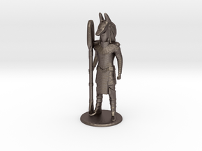 Jackal Guard at Attention 35 mm new in Polished Bronzed Silver Steel