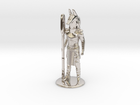 Jackal Guard at Attention 35 mm new in Rhodium Plated Brass