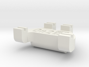 On2 Track Gauge - Code 70 in White Natural Versatile Plastic