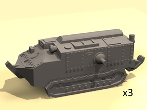 1/144 Schneider CA-1 tank (3) in Smooth Fine Detail Plastic