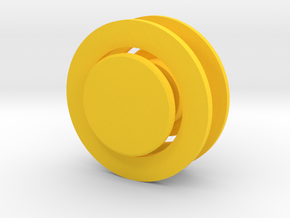Fidget Spinner Tourus Caps in Yellow Processed Versatile Plastic