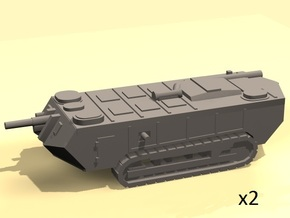 1/144 WW1 Saint Chamond tank in White Processed Versatile Plastic