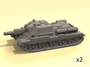 1/100 SU-122 SPG (2) in White Processed Versatile Plastic