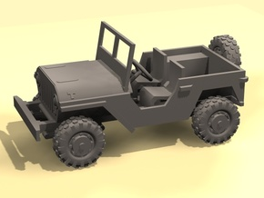 1/100 Toy Jeep 4x4 in Smooth Fine Detail Plastic