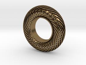 Fidget Spinner Taurus in Natural Bronze