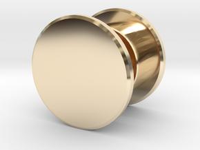 Fidget Spinner Tourus Center Caps in 14k Gold Plated Brass