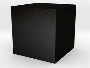 Black cube in Matte Black Steel