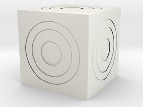 "Cube ""Trijik"" in White Natural Versatile Plastic"