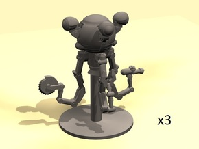 28mm Wastefall Handy Robot  in Smooth Fine Detail Plastic