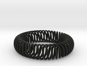 QUATTROSPiRALi in Black Natural Versatile Plastic: Small