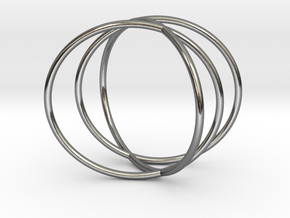 The Sixth Sense Ring in Fine Detail Polished Silver