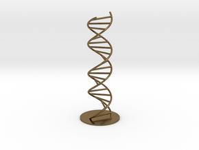 DNA Molecule Model Pedestal, Several Size Options in Natural Bronze: 1:10